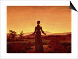 Morning Light Prints by Caspar David Friedrich