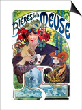 Beer Ad By Mucha, C1897 Prints by Alphonse Mucha