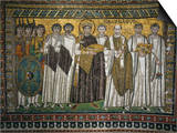 Emperor Justinian, 483-565, and His Court Prints