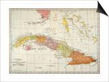 Map: Cuba, 1900 Posters