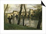 Le Pont de Mantes Poster by Jean-Baptiste-Camille Corot