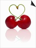 Pair of Cherries Forming a Heart Art by  Kröger & Gross