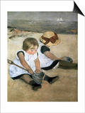 Children on the Beach Posters by Mary Cassatt