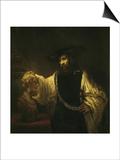 Aristotle with a Bust of Homer Art by  Rembrandt van Rijn