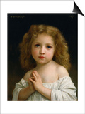 Little Girl Art by William Adolphe Bouguereau