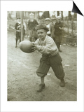Boy with Football, Early 1900s Prints by Marvin Boland