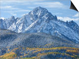 Mount Sneffels after an Early Autumn Snowfall, Near Telluride, Co Posters by Howard Newcomb