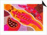 Aboriginal Painting Poster by John Newcomb