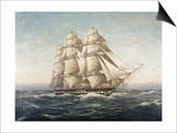 Uss Constitution Art by Myron Clark