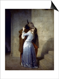 Hayez: The Kiss Art by Francesco Hayez