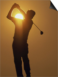 Sunset Golf Silhouette Prints
