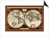 Decorative World Map Posters by  Vision Studio