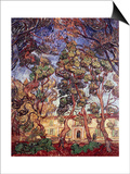 Trees in the Garden of Saint-Paul Hospital Prints by Vincent van Gogh
