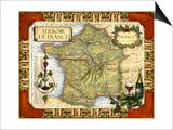 Wine Map of France Poster