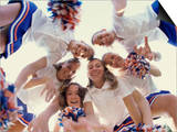 Portrait of a Group of Cheerleaders Print