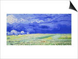 Field under a Stormy Sky Print by Vincent van Gogh
