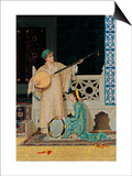 Two Musician Girls Posters by Osman Hamdi Bey
