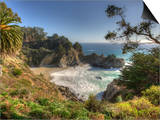 Mcway Falls at Julia Pfeiffer Burns State Park on the Big Sur Coast of California Posters by Kyle Hammons