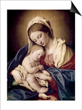 Madonna and Child Prints by  Giovanni Battista Salvi da Sassoferrato