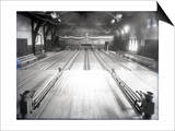 Bowling Alley, Madison Park, Seattle, 1909 Prints by Ashael Curtis