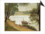 Seurat: Gray Weather Print by Georges Seurat