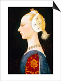 A Young Lady of Fashion Affischer av Paolo Uccello