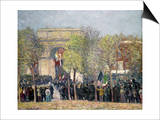 Washington Square, 1918 Prints by William James Glackens