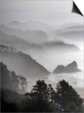 A Foggy Day on the Oregon Coast Just South of Cannon Beach. Print by Bennett Barthelemy