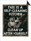 Self Cleaning Kitchen Posters by Pela Studio
