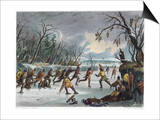 Native Americans: Ball Play, 1855 Prints
