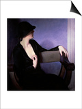 Woman in Black Print by Bernhard Gutmann