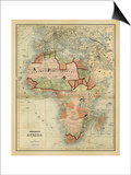 Antique Map of Africa Poster by Alvin Johnson