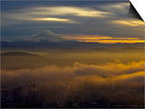 Mount Hood Sunrise from Portland Prints by Al Stern