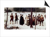 Pilgrims Going to Church Prints by George Henry Boughton
