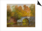 The Bridge Print by Mary Jean Weber