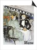 Toulouse-Lautrec: Menu Pósters por Henri de Toulouse-Lautrec
