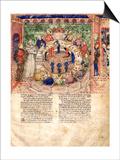 The Knights of the Round (Miniature From La Quete Du Saint Graal Et La Mort D'Arthus) Art