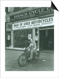 Man on Harley Davidson Motocycle at Hirsch Cycle Co., 1927 Posters by Chapin Bowen