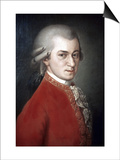 Wolfgang Amadeus Mozart Posters by Barbara Krafft
