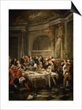 Le Déjeuner D'Huîtres (Oyster Dinner) 1735 Prints by Jean Francois de Troy