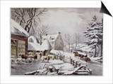 Winter Morning Prints by  Currier & Ives