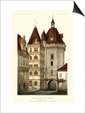 French Chateaux in Brick III Prints by Victor Petit