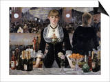 Bar at the Folies, Bergeres Posters by Édouard Manet