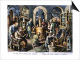 Alchemy: Laboratory Print by Joan Galle