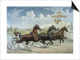 Pacing for a Grand Purse Posters by  Currier & Ives
