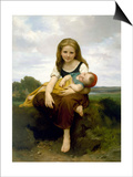The Elder Sister (La Soeur Ainee) Posters by William Adolphe Bouguereau