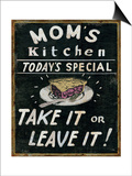 Mom's Kitchen Prints by Pela Studio