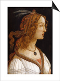Portrait of a Young Woman Prints by Sandro Botticelli