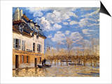 Sisley: Flood, 1876 Prints by Alfred Sisley