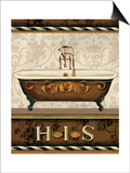 Bourgoisie Bath I Posters by Lisa Audit
